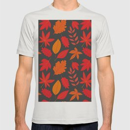 Red autumn leaves T-shirt