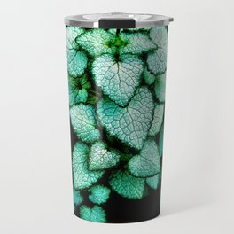 Mint Heart Leaves Travel Mug