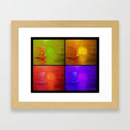 Sailboat Collage Framed Art Print