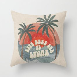 Este Debe Ser el Lugar (This Must Be the Place in Spanish) Throw Pillow