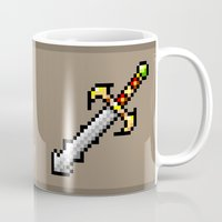 sword Mugs featuring Sword by HOVERFLYdesign