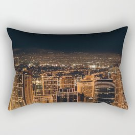 Somewhere in China – City by night Rectangular Pillow