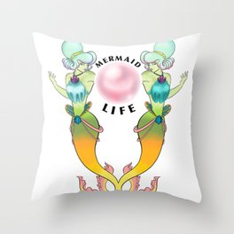 Mermaid Life Throw Pillow