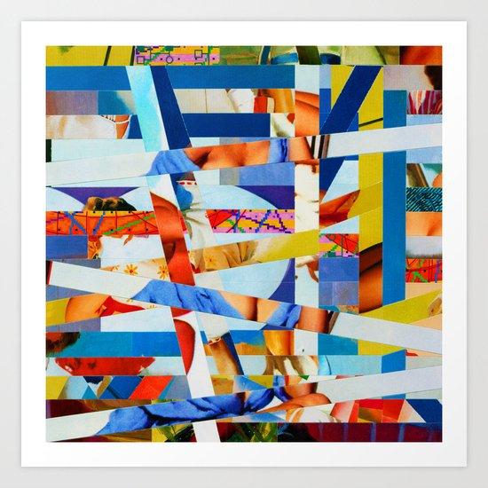Marko (stripes 8) Art Print