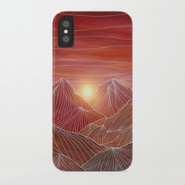 Lines in the mountains VI iPhone Case