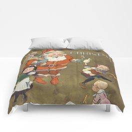 Vintage Frustrated Santa Claus Illustration (1901) Comforters