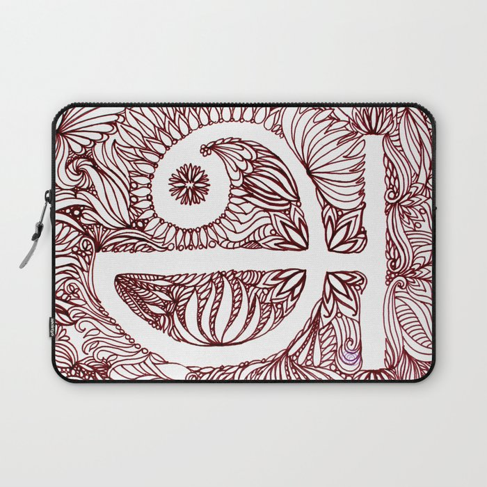 A in Tamil Laptop Sleeve