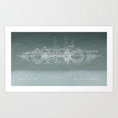 Run a Tight Ship Art Print