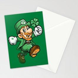 Lucky Mario Leprechaun Stationery Cards