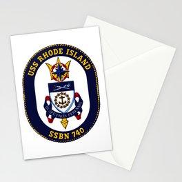 USS RHODE ISLAND (SSBN-740) PATCH Stationery Cards