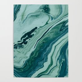 Blue Planet Marble Poster