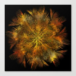 The Majesty Palm Swirl (No BG) Canvas Print