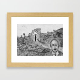 Oh Whistle and I'll Come to You Framed Art Print