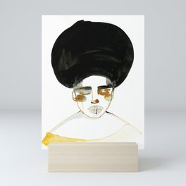 Serenity with Fluffy Afro Mini Art Print