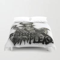 bitch Duvet Covers featuring BITCH PLEASE by Ana Guillén Fernández