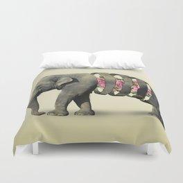 Inner Rose Elephant Duvet Cover