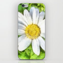 Radiant Daisy Watercolor iPhone Skin