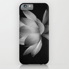 Lotus Blossom Flower 15 (Black and White) Slim Case iPhone 6s