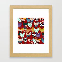 Cincinnati Chickens red Framed Art Print