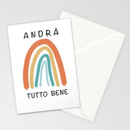Andrà tutto bene, rainbow, italy   Stationery Cards