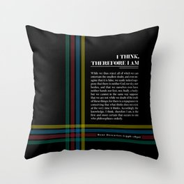 Philosophia II: I think, therefore I am Throw Pillow
