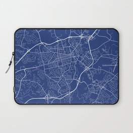 Athens Map, USA - Blue Laptop Sleeve
