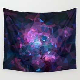 Galaxy Low Poly 45 Wall Tapestry