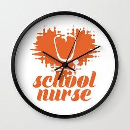 School nurse doctor heart Wall Clock
