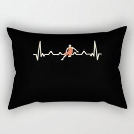 Funny Bball Basketball Heartbeat Gift Rectangular Pillow