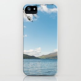 Scenic view of Loch Tay in Kenmore in Scotland iPhone Case