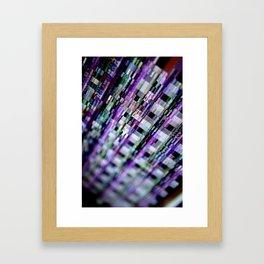 Broken phosphor #1 Framed Art Print