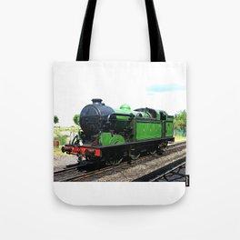 Vintage Steam railway engine Tote Bag