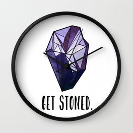 Get Stoned - Amethyst Wall Clock
