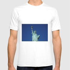Liberty White MEDIUM Mens Fitted Tee
