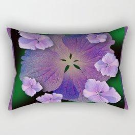 LACECAP HYDRANGEA FLOWER BOUQUET  Rectangular Pillow