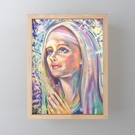 Saint Claire of Assisi, potrait Framed Mini Art Print