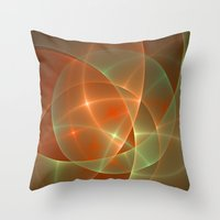 the shining Throw Pillows featuring Shining by gabiw Art