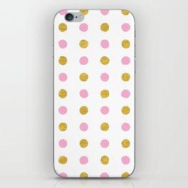 Dalmatian - Pink & Gold Foil #230 iPhone Skin