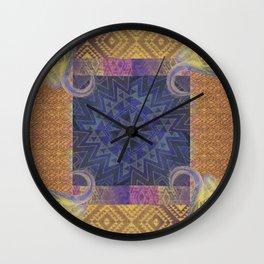 Blue Buffalo Roaming Round Wall Clock