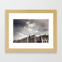 Amsterdam Clouds Two Framed Art Print