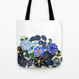Vintage & Shabby Chic - Blue Flower Summer Meadow Tote Bag