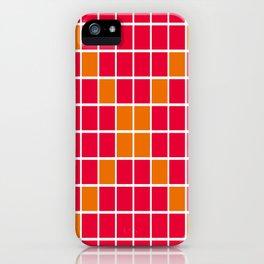 Magenta and Orange Grid iPhone Case