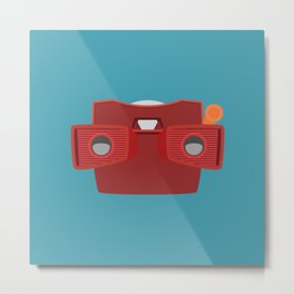 Viewmaster Illustration Metal Print