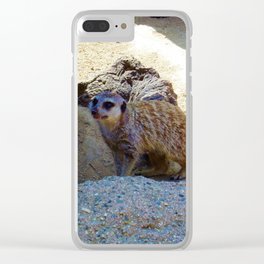 Meerkat saying Hello Clear iPhone Case
