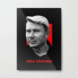 Formula One - Mika Hakkinen Metal Print
