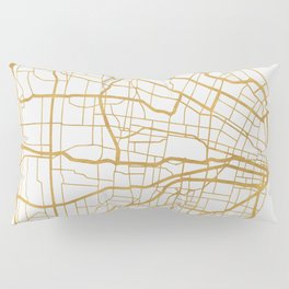 ST. LOUIS MISSOURI CITY STREET MAP ART Pillow Sham