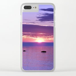 Colorful Cloudy Sunset Clear iPhone Case