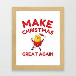 Make Christmas Great Again Framed Art Print