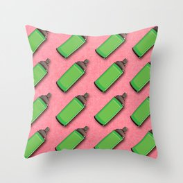 Spraycan pattern Throw Pillow