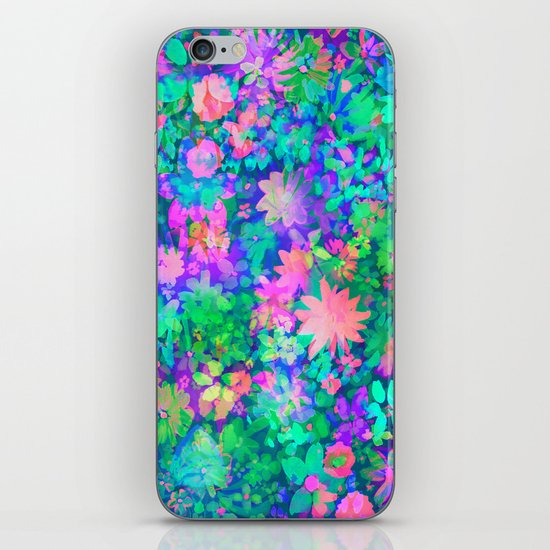 Fluro Floral iPhone & iPod Skin